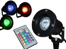 LED RGB Gartenstrahler mit Erdspieß wasserdicht IP68 + 16 Farben Fernbedienung
