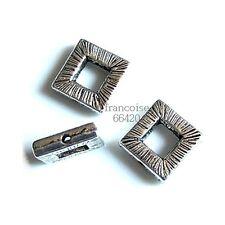 10 Intercalaires spacer Carré 10x10x2.5mm Perles apprêts création bijoux _  A216
