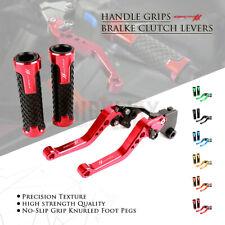 Brake Clutch Levers 22mm Handlebar Grips Set for Honda CBR1100XX BLACKBIRD 97-07