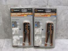 Lot Of 2 Southwire Rjcc T1k Compact Voice Amp Data Crimp Tool With Modular Plugs