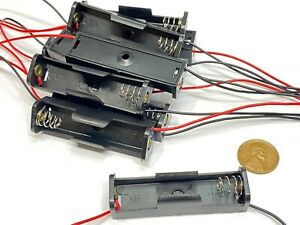 """10 Pieces Battery Holder Case Box with 6"""" Wire Leads for 1X AA Battery 1.5V C20"""
