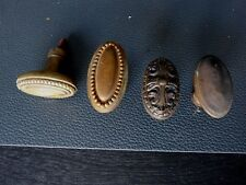 LOT 4 ANCIENNES POIGNÉES PORTES OU FENETRES BRONZE LAITON FONTE MÉTAL / N°1