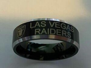 Las Vegas Raiders Team Titanium Ring style #1 sizes 6-13