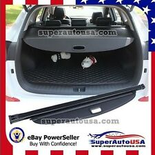Fit for 2017 Hyundai Santa Fe Sport TRUNK BLACK OE STYLE RETRACTABLE CARGO COVER