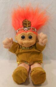 "Russ Native American Indian 10"" Troll  Soft Plush Pilgrim"