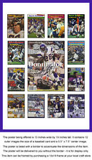 Minnesota Vikings Sports Illustrated Cover Collection Poster