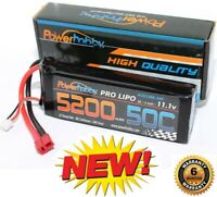 PowerHobby 3S 11.1V 5200mAh 50C Lipo Battery Pack w Deans Plug 3-Cell