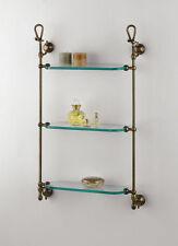 Accessori bagno: Pensile vetro 3 mensole wc prodotto italiano classico ottone