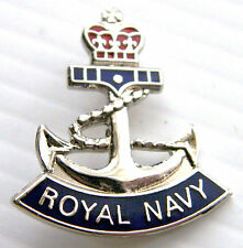 The Royal Navy Anchor Naval RN 26mm Military Lapel Pin Badge in Gift Pouch
