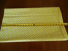 """By 1/2 Yd, 45"""" Wide, Brown-Flecked Yellow & White Cotton Poplin, M1073"""