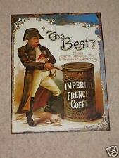 PLACCA in metallo caffè foto vintage caffè IMPERIAL francese Firmare/sala da tè