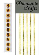 220 x 2mm Oro Diamante Self Adesivo Strisce Righe con Strass CORPO NAIL Vajazzle