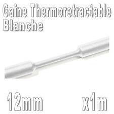 Gaine Thermo Rétractable 2:1 - Diam. 12 mm - Blanc - 1m