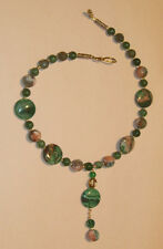 Gorgeous Green Jade, Agate, and Aventurine Necklace