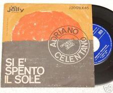"""CELENTANO:7""""-SI E' SPENTO IL SOLE-ORIGINALE 1962 EX+++"""