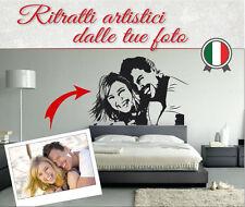 WALL STICKER PERSONALI, FOTO PERSONALIZZATE RITRATTO + FRASE _ una Bozza GRATIS
