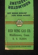 1930s Cities Service Koolmotor Gas Red Wing Gas Co. B. B. Rubin Middletown CT MB