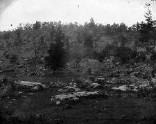 New 8x10 Civil War Photo: Rocky Face of Little Round Top, Battle of Gettysburg