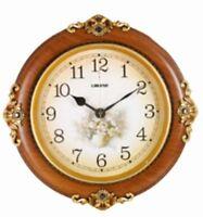 holiday gift decor round walnut mahogany wall clock for home office