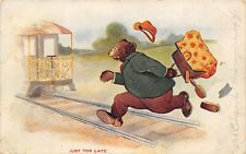 """Fantasy Dressed Bear~""""Just Too Late"""" Grizzly Runs for the Train~Spills Satchel"""