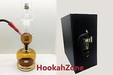 GOLD Al Fakher ALL GLASS HOOKAH SHISHA EXTRA ACCESSORY LEATHER CASE