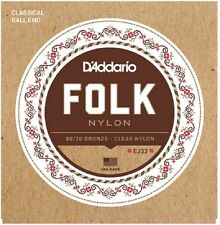 D'Addario EJ33 Ball End 80/20 Bronze/Clear Nylon Trebles Guitar Strings