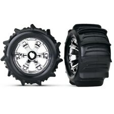 Traxxas Paddle Tires & Wheels 17mm Hex 1/10 Revo, E-Revo, E-Maxx, T-Maxx, Summit