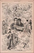 ST. VALENTINES DAY by WINSLOW HOMER, antique engraving, original 1868