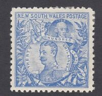 NSW86) New South Wales 1890 Centenary perf 11 20/- Cobalt-blue SG350