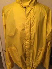 Vintage Tommy Hilfiger Jacket windbreaker Yellow Size L Full Zip Nylon Coat
