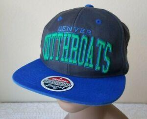 Vintage Denver Cutthroats Snapback Hat Cap Raised Embroidered Logo RARE! Signed