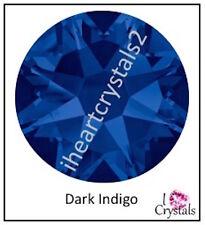 DARK INDIGO Blue 144 pieces 3mm 12ss Swarovski Crystal Flatback Rhinestones 2088