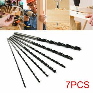 7pcs Long Wood Drill Bits Set 4mm 5mm 6mm 7mm 8mm 10mm 12mm x 300mm Brad Point