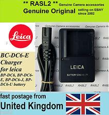 Caricatore originale per Leica BC-DC6-E BP-DC6 LEICA C-LUX2 C-LUX3