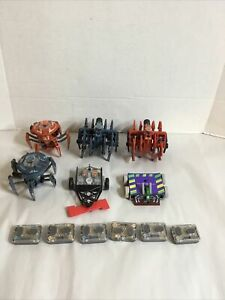 Lot of 6 Hexbugs Battle Bots Battlebots w/Remotes