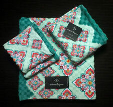 NEW MEDALLION PAISLEY GEO BATH HAND WASH 4 TOWELS SET TURQUOISE NANETTE LEPORE