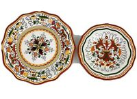 "Tabletops Unlimited SAN MARINO Dinner & Salad Plates 11"" Red Earthenware 8pc Set"