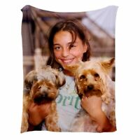 Photo Blanket with Picture Printed Fleece Blankets Unique for Couch Sofa Bed