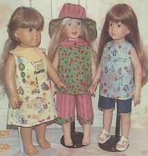 """Shorts dress top hat Pattern kids n cats fits 17"""" & 18"""" Ag american girl doll"""