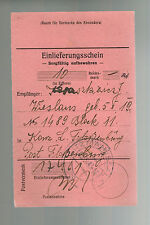 1943 Germany Flossenburg Concentration Camp money order Receipt W Karaskiewicz
