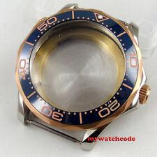 41mm blue ceramic bezel sapphire glass Watch Case fit ETA 2824 2836 MOVEMENT