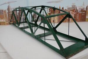 "Vintage 1950 S & O Gauge Steel Bridge Company 27"" Steel 6 Panel Truss Bridge"