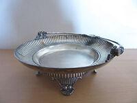Victorian 1800s Webster Quadruple Silver Plate Footed Bridal Cake/Flower Basket