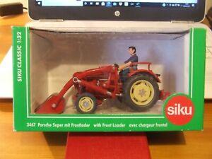 Siku 3467 Porsche Super Tractor with Front Loader, 1:32, BNIB