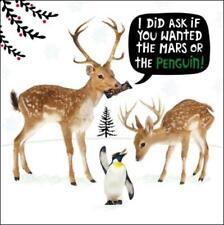 Marte o Pingüino Gracioso Crackerjack tarjetas de felicitación Tarjeta Animal Humor Navidad