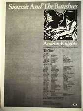SIOUXSIE & Banshees Arabian Nights 1981 UK Poster size Press ADVERT 16x12 inches