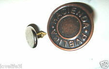 17mm JEAN DENIM STUD BRONZE METAL ANTIQUE BRASS COPPER TROUSER BUTTON HAMMER ON