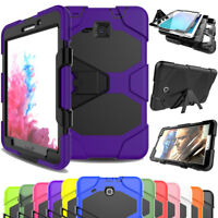 Tablet Case For Samsung Galaxy Tab A E S2 +Screen Protective Hybrid Rubber Cover