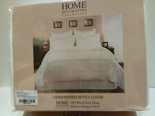 Home Decorators Collection Embroided Duvet Cover Full/Queen ~ Watery