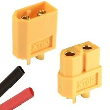 RC XT60 Male & Female PAIR Battery Connector + Heat Shrink